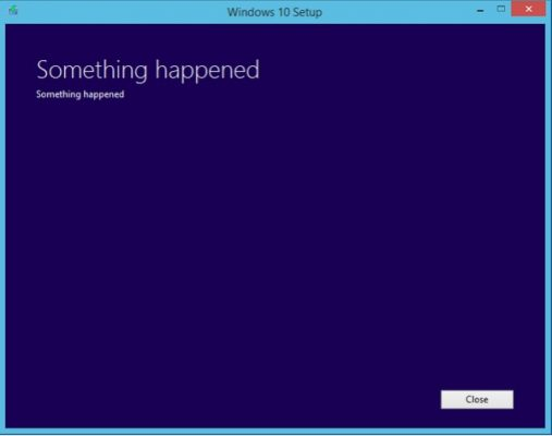 something happened on windows 10