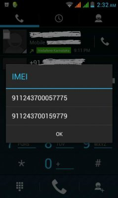 SIM IMEI NUMBER
