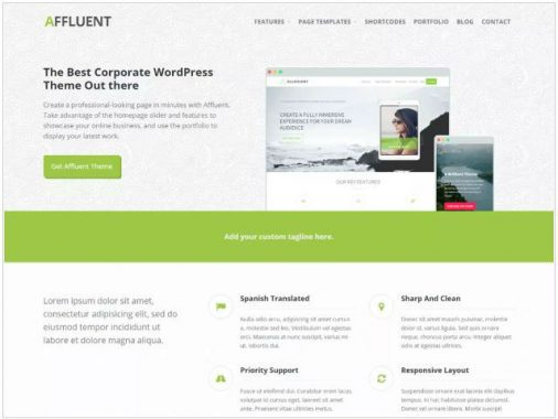 Affluent wordpress business themes