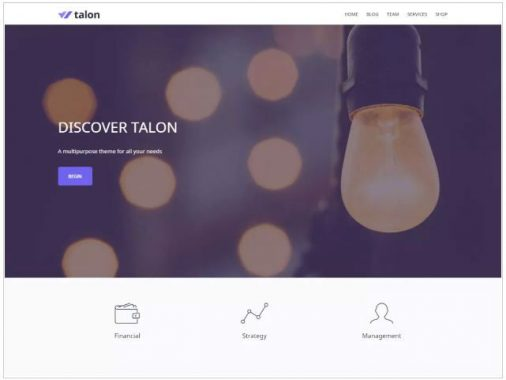 Talon business wordpress themes