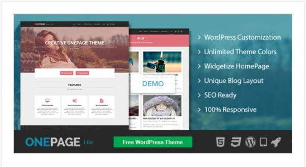 onepage wordpress business themes