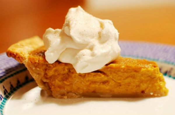 Pumpkin pie and eggnog