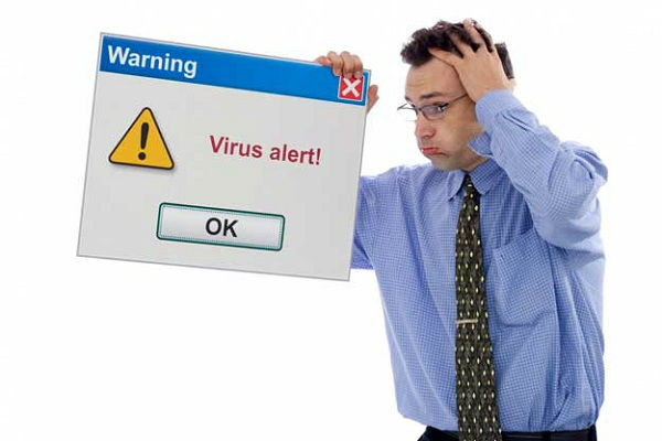 Virus attack while online shopping