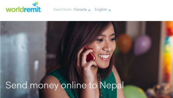 worldremit send money to Nepal from canada