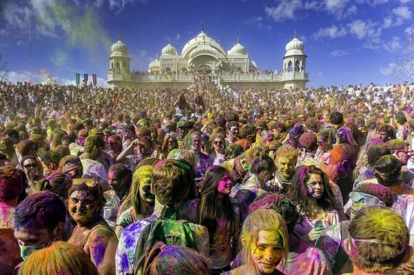 The Holi Festival in March 2013 at the Sri Sri Radha Krishna Temple in Utah County, Utah/Wikipedia